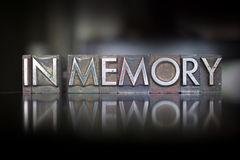 In Memory Letterpress Royalty Free Stock Photography
