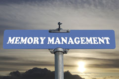 Memory management road sign Stock Photo