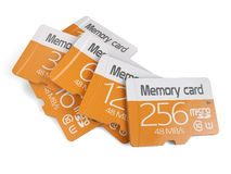 Memory micro sd card heap Royalty Free Stock Images