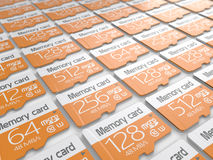 Memory micro sd cards Stock Images