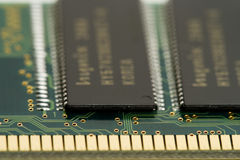 Memory module. Macro shot of memory module Royalty Free Stock Photo