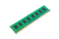Memory module DDR3 type. DDR3 memory module isolated on a white background Stock Images