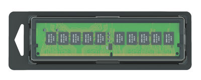 Memory module in the pack Royalty Free Stock Image