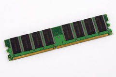 Memory module. On a white background stock photo
