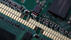 Memory modules close-up Stock Photo