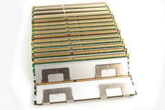 Memory modules isolated on the white background Stock Photography