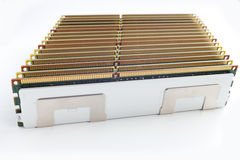 Memory modules isolated on the white background Royalty Free Stock Image
