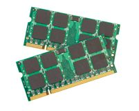 Memory modules for laptops. Memory modules for laptop upgrade stock images