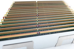 Memory modules  on the white background Royalty Free Stock Photo