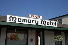 Montauk. The Memory Motel exterior is seen in Montauk, New York.  The Rolling Stones song Memory Motel is about the hotel and the times the band spent in Montauk Stock Photography