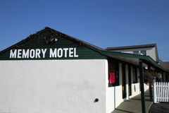 Montauk. The Memory Motel exterior is seen in Montauk, New York.  The Rolling Stones song Memory Motel is about the hotel and the times the band spent in Montauk Stock Photos
