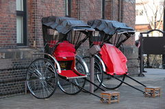 The memory of old time. Seeing the rickshaw brings you go back to the ancient period Stock Images