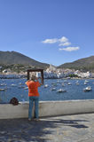 Memory picture of the beautiful town of Cadaques Royalty Free Stock Photography