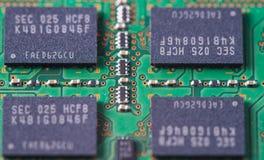 Memory Ram 03. Closeup of a memory Ram chip module Stock Images