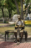 Memory  sculpture. Theater square in Belgorod. Russia Stock Photography