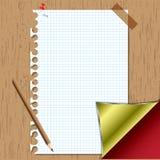 Memory set. Set  memory sheet and pencil board Royalty Free Stock Photo