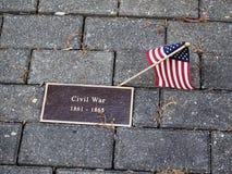 Memory (Sign dedicated the Civil War). Memory (The sign which is dedicated the Civil War (1861-1865 Stock Photo