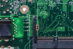 Memory slot and circuits royalty free stock photos