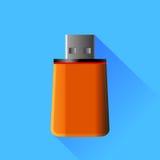 Memory Stick anaranjado Fotos de archivo libres de regalías