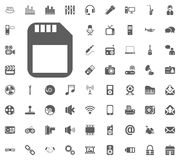 Memory stick icon. Media, Music and Communication vector illustration icon set. Set of universal icons. Set of 64 icons.  Royalty Free Illustration