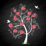 Memory tree. Memories tree with photo frames. Insert your photos into frames Stock Photos