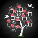 Memory tree. Memories tree with photo frames. Insert your photos into frames Royalty Free Stock Photo