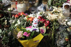Memory of victims of Norway attack at island Utoya Stock Images