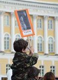 The memory of war veterans - the winner in Victory Day. Stock Images