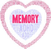 Memory Word Cloud Stock Photography