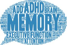 Memory Word Cloud Royalty Free Stock Photos