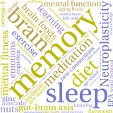 Memory Word Cloud Stock Photos