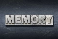 Memory word den Stock Images