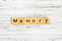 MEMORY word made with wooden blocks concept Royalty Free Stock Photos