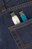 Memorystick in einer Tasche Lizenzfreies Stockbild