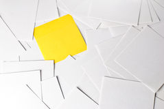 Memos. Isolated on a white background Royalty Free Stock Photography