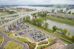 Memphis śródmieścia autostrada zdjęcia stock