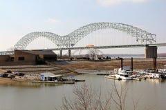 Memphis Arkansas Bridge lizenzfreies stockbild