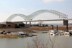 Memphis Arkansas Bridge Royalty Free Stock Image