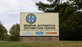 Memphis Automotive Distribution Center Royalty Free Stock Images