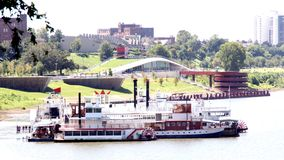 Memphis Beale St Levy. Memphis Tennessee Riverboat at the Beale St Levy. Riverboat cruises down the Mississippi Royalty Free Stock Photo
