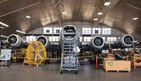 Memphis Belle im Wiederherstellungs-Aufhänger stockfotografie