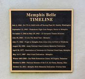 Memphis Belle Memorial Bronze Plaque Royalty Free Stock Photo
