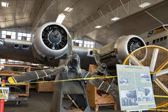 Memphis Belle Restoration on Display, Radial Engines & Props Stock Images