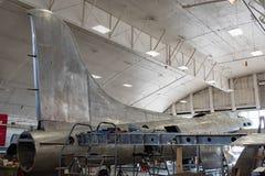 Memphis Belle Restoration, Endstück-Stabilisator u. Flügel stockfotografie