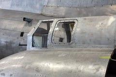 Memphis Belle Window Restoration auf Gunner Assemblage lizenzfreies stockfoto