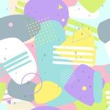 Memphis bezszwowi wzory kolorowy abstrakcjonistyczny tło Fotografia Stock