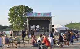 Memphis Bicentennial Celebration Live Music Memphis TN arkivfoto