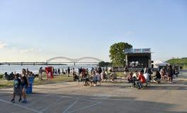 Memphis Bicentennial Celebration Memphis Riverfront royaltyfri bild