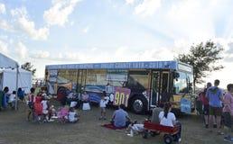 Memphis Bicentennial Traveling Mural Bus, Memphis TN immagini stock libere da diritti