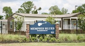 Memphis Blues Manufactured Home Community Fotos de archivo libres de regalías